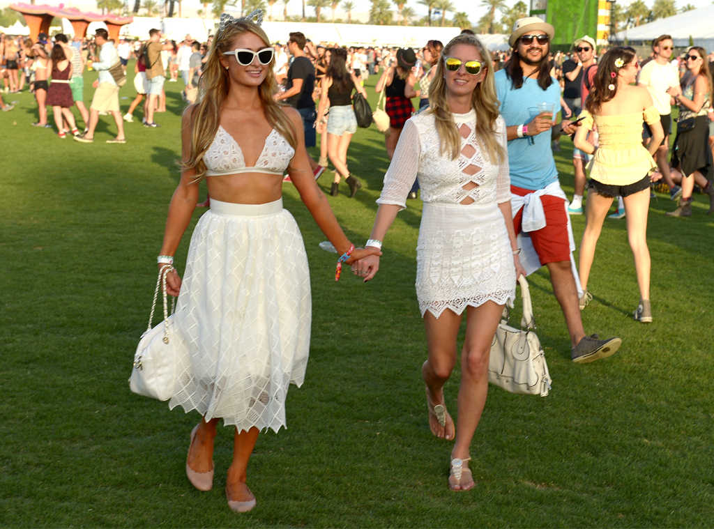 Paris Hilton, Nicky Hilton, 2015 Coachella